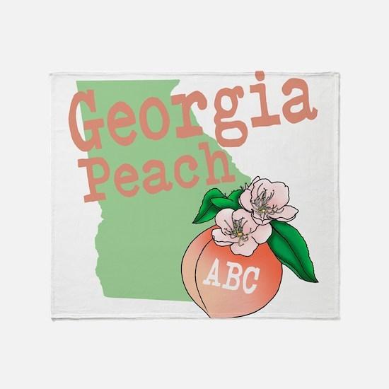 Georgia Peach Throw Blanket