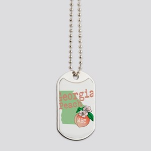 Georgia Peach Dog Tags