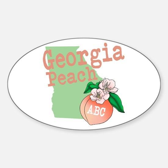 Georgia Peach Decal