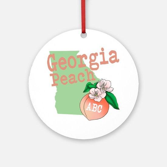 Georgia Peach Ornament (Round)