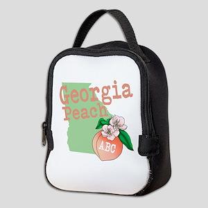 Georgia Peach Neoprene Lunch Bag