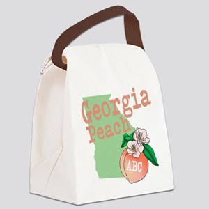 Georgia Peach Canvas Lunch Bag