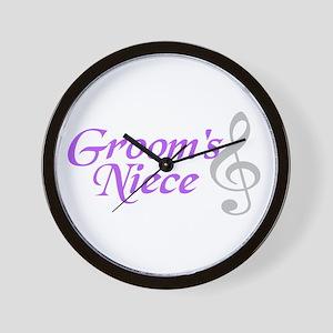 Groom's Niece(clef) Wall Clock
