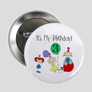 My 3rd Birthday Button