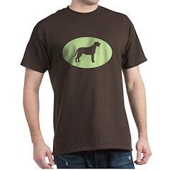 Green/Brown Irish Wolfhound T-Shirt