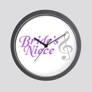 Bride's Niece(clef) Wall Clock