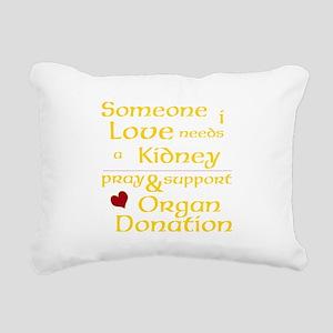 Personalize Organ Donati Rectangular Canvas Pillow
