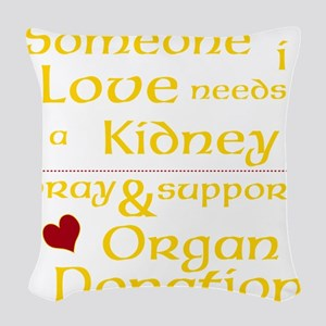 Personalize Organ Donation Woven Throw Pillow