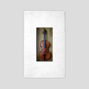 Violinoverwoodfloor 3'x5' Area Rug