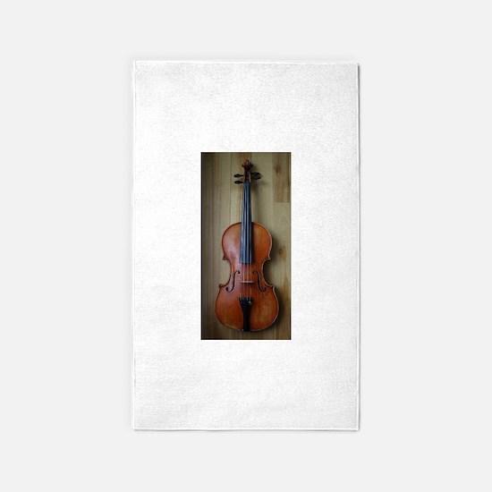 Violinoverwoodfloor.jpg 3'x5' Area Rug