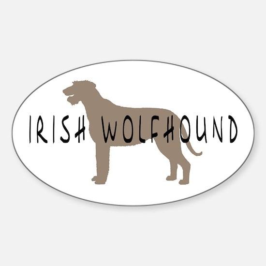 Irish Wolfhound w/ Text Oval Decal