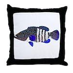 Peacock Grouper Roi Throw Pillow