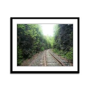Railroad Tracks Framed Panel Print