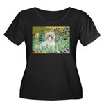 Irises / Coton Women's Plus Size Scoop Neck Dark T