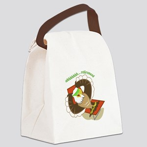 Retirement Eagle Canvas Lunch Bag