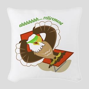 Retirement Eagle Woven Throw Pillow