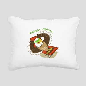 Retirement Eagle Rectangular Canvas Pillow