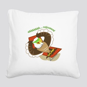 Retirement Eagle Square Canvas Pillow