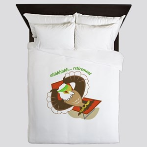 Retirement Eagle Queen Duvet