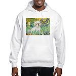 Irises / Coton Hooded Sweatshirt