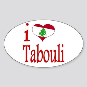 I Love Tabouli Tabuli Oval Sticker