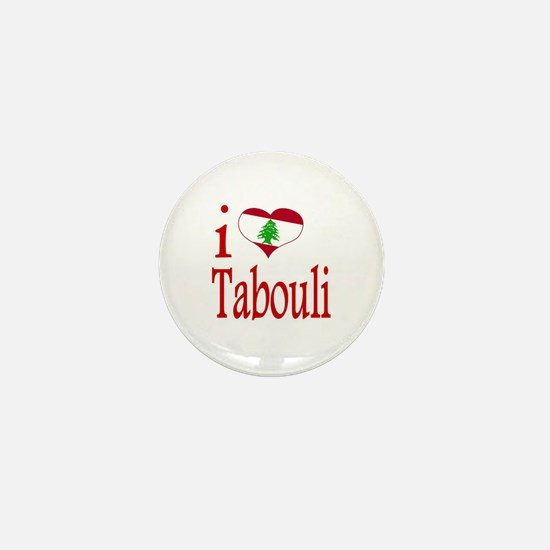 I Love Tabouli Tabuli Mini Button