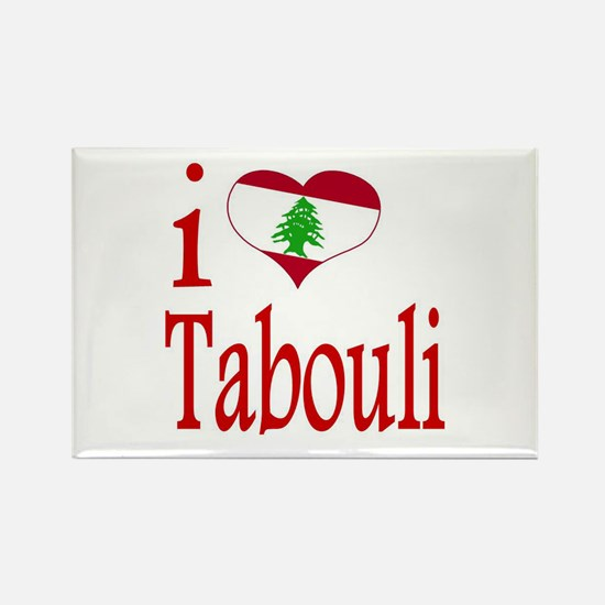 I Love Tabouli Tabuli Rectangle Magnet