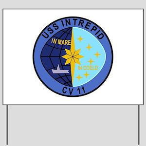 CV-11 USS INTREPID Multi-Purpose Aircraf Yard Sign