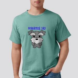 Schnauzer Dog Dad Mens Comfort Colors Shirt