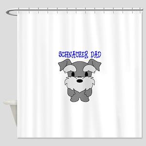 Schnauzer Dog Dad Shower Curtain