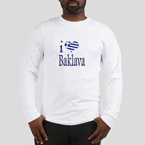 I Love Baklava Long Sleeve T-Shirt