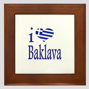 I Love Baklava Framed Tile