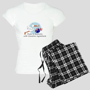 stork baby austr can Women's Light Pajamas