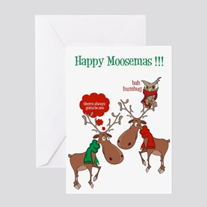 Funny Bah Humbug Christmas Owl Card Greeting Cards