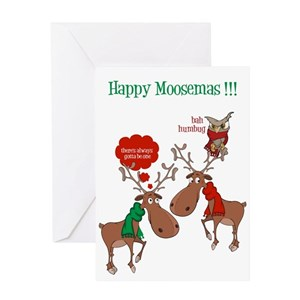 moose funny greeting cards cafepress