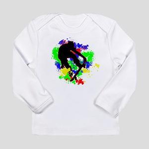 Graffiti Paint Splotches Skate Long Sleeve T-Shirt