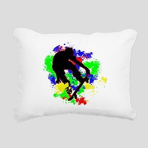 Graffiti Paint Splotches Rectangular Canvas Pillow