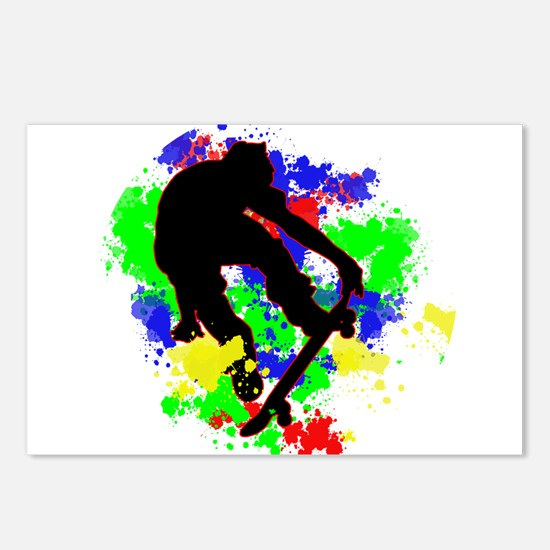 Graffiti Paint Splotches Postcards (Package of 8)