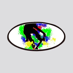 Graffiti Paint Splotches Skateboarder Patches