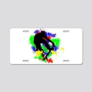 Graffiti Paint Splotches Sk Aluminum License Plate