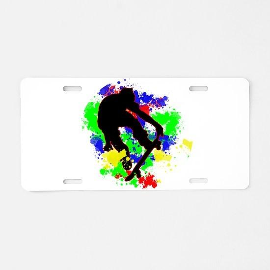 Graffiti Paint Splotches Sk Aluminum License Plate
