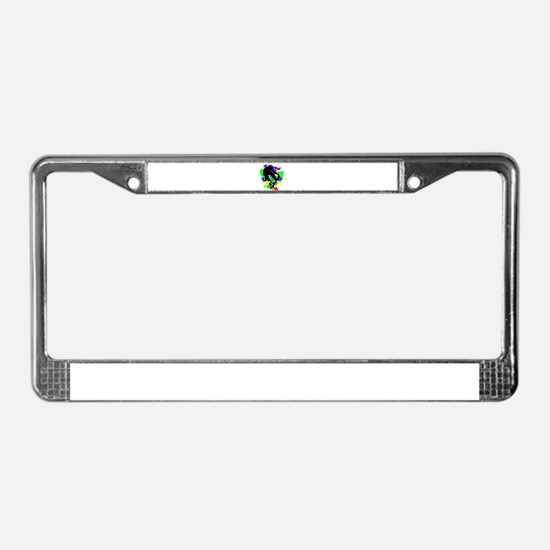 Graffiti Paint Splotches Skate License Plate Frame