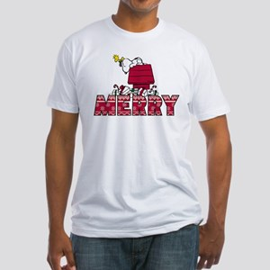 Snoopy Merry Fitted T-Shirt