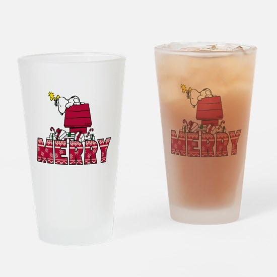 Snoopy Merry Drinking Glass