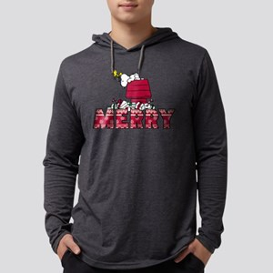 Snoopy Merry Mens Hooded Shirt
