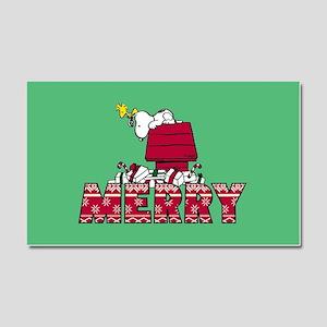 Snoopy Merry Car Magnet 20 x 12
