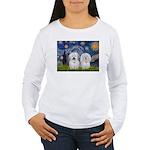 Starry / Coton Pair Women's Long Sleeve T-Shirt