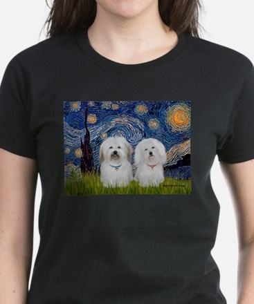 Starry / Coton Pair Women's Dark T-Shirt