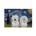 Starry / Coton Pair Rectangle Magnet