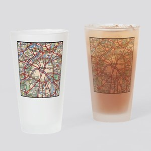 Map of Paris France Drinking Glass